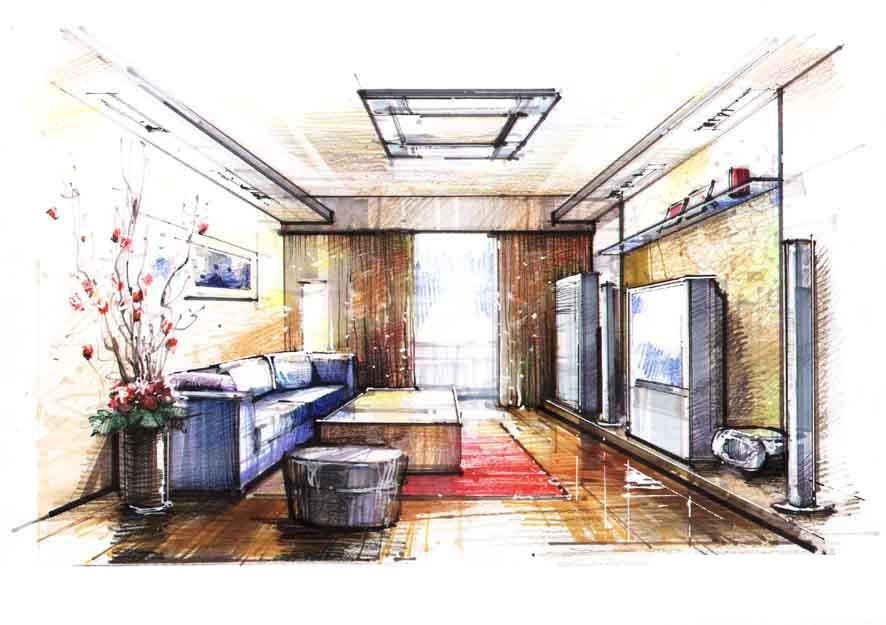 室内手绘图.