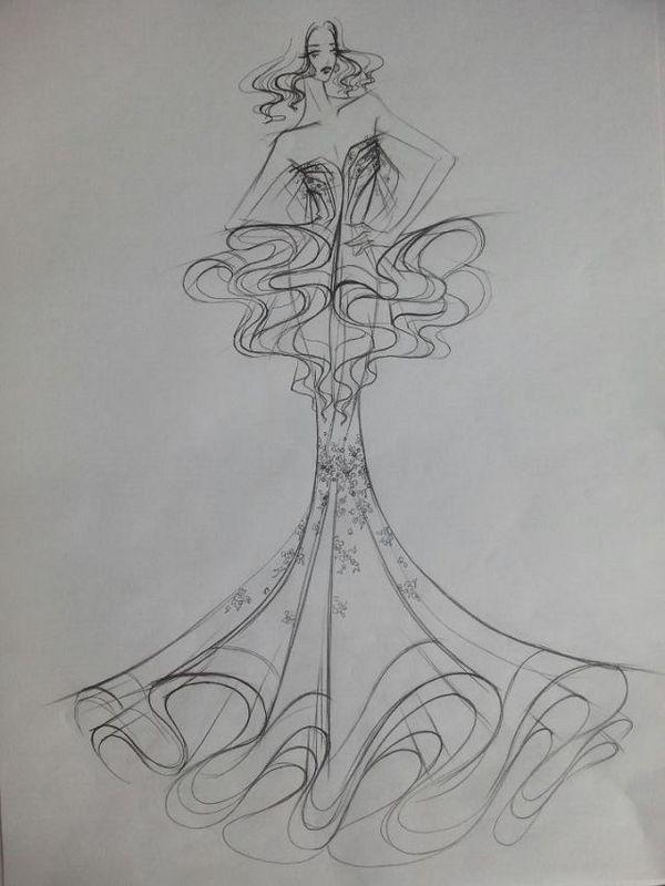十二星座婚纱手绘版