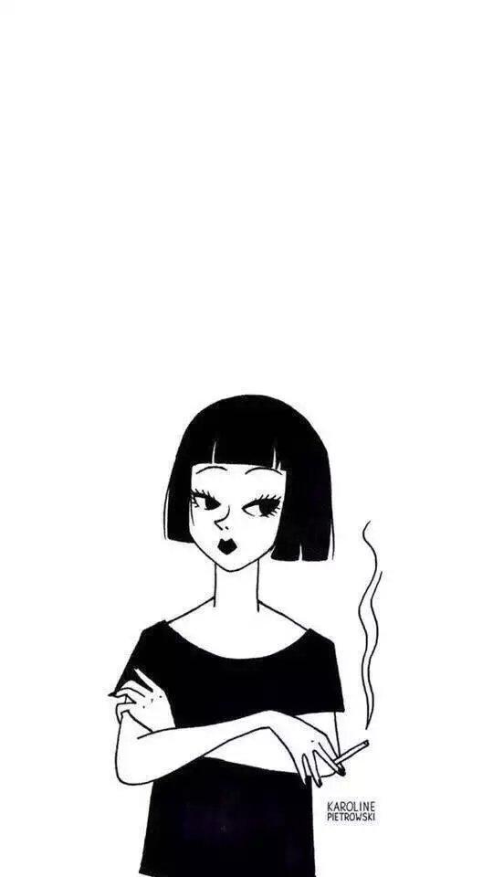 个性网-qq皮肤-黑色の小可爱_透明_黑白
